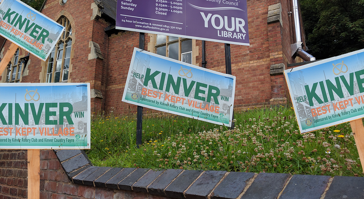 Kinver Last in Best Kept Village Competition Due to Too Many Best Kept Village Signs
