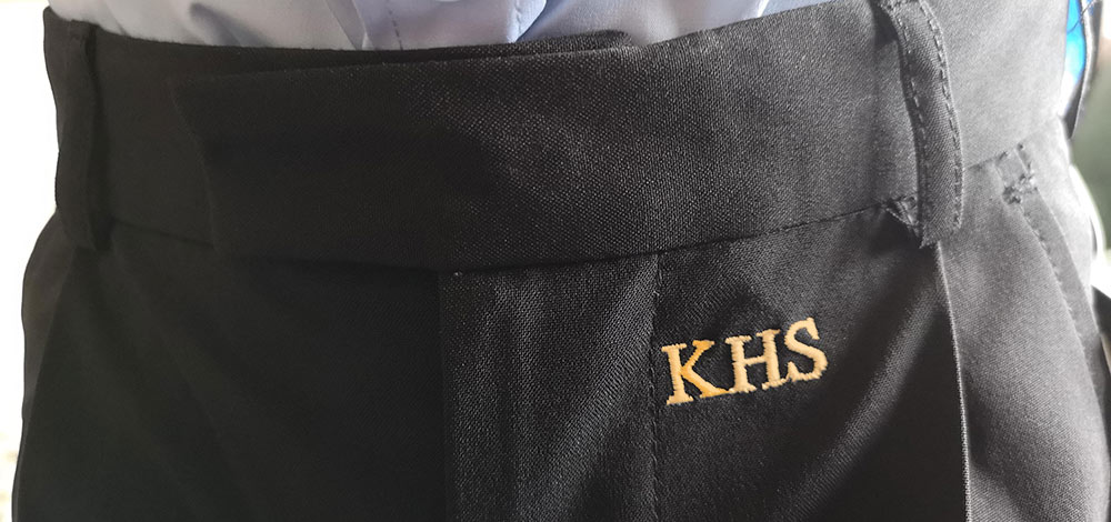 "Kinver High Uniform Logo ""Must be embroidered with gold thread"" insists school"